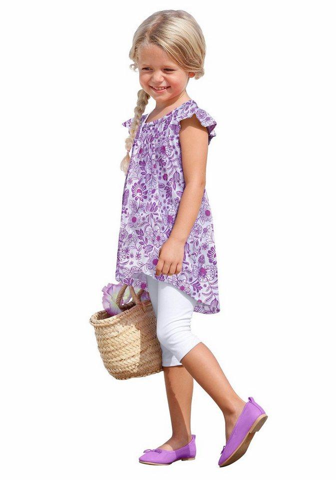 CFL Longshirt & Leggings mit Blumen-Muster (Set, 2-tlg.), für Mädchen in Bedruckt-Flieder