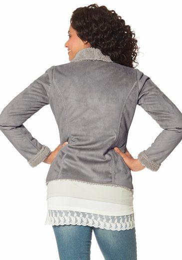 Boysen Imitation Leather Jacket, Inside With Soft Lining Teddy