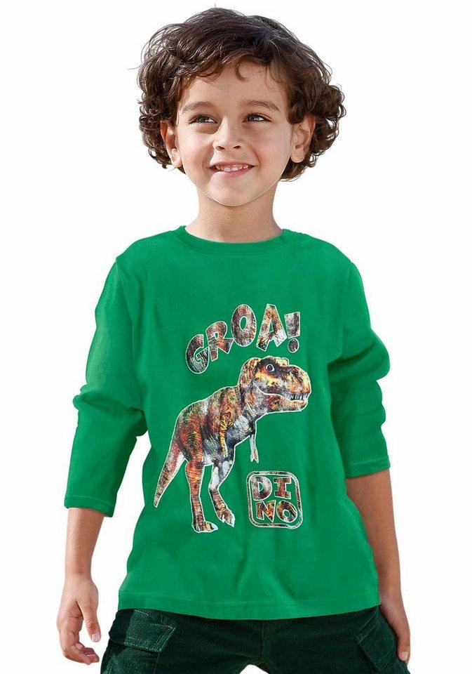 CFL Langarmshirt mit Dinosaurier Druck in grün