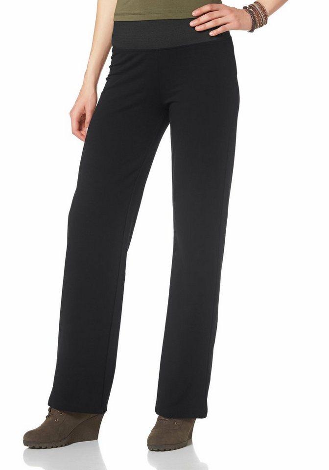 Boysen's Jerseyhose mit komfortablem Gummizugbund in schwarz