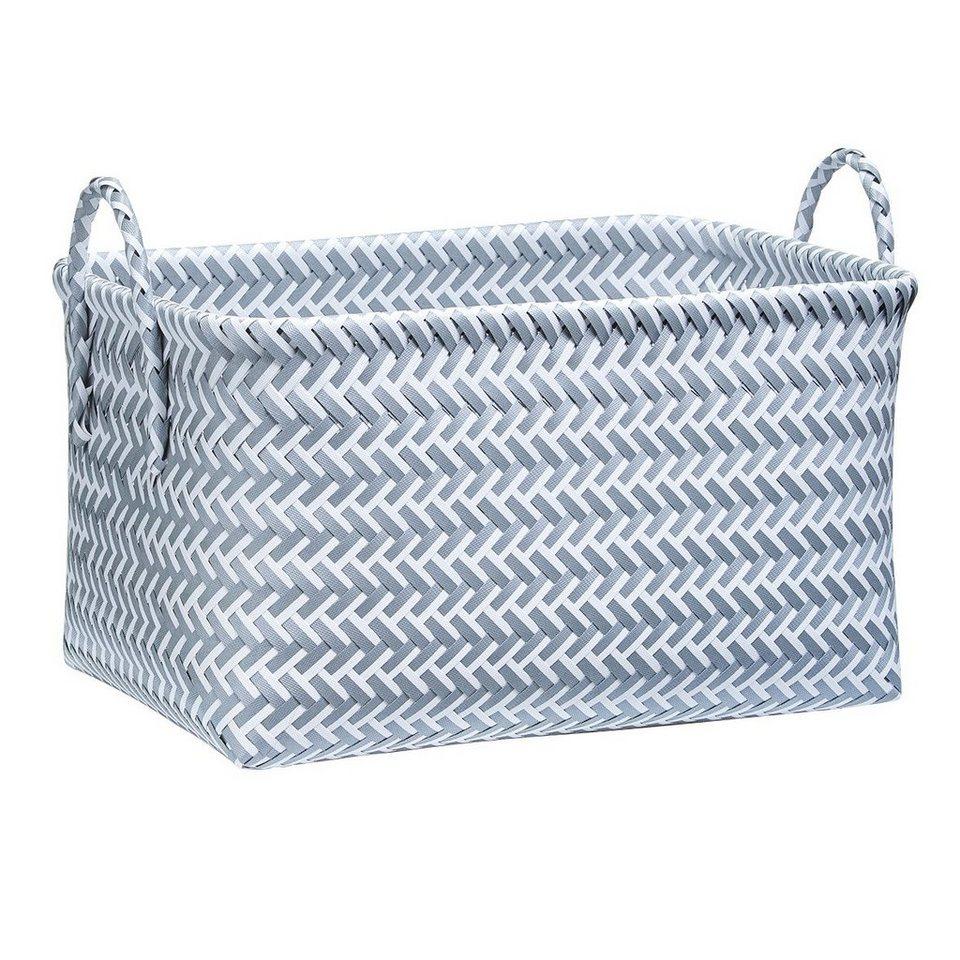 Korb »Flechtkorb« in grau/weiß