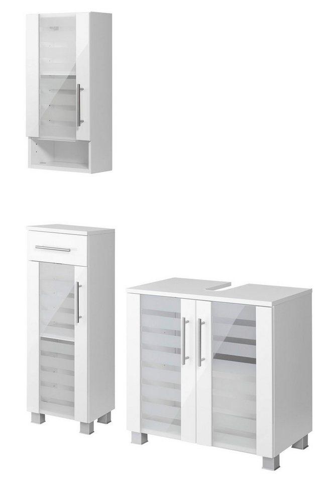 Badmöbel-Set »Jaca«, 3-tlg. in weiß