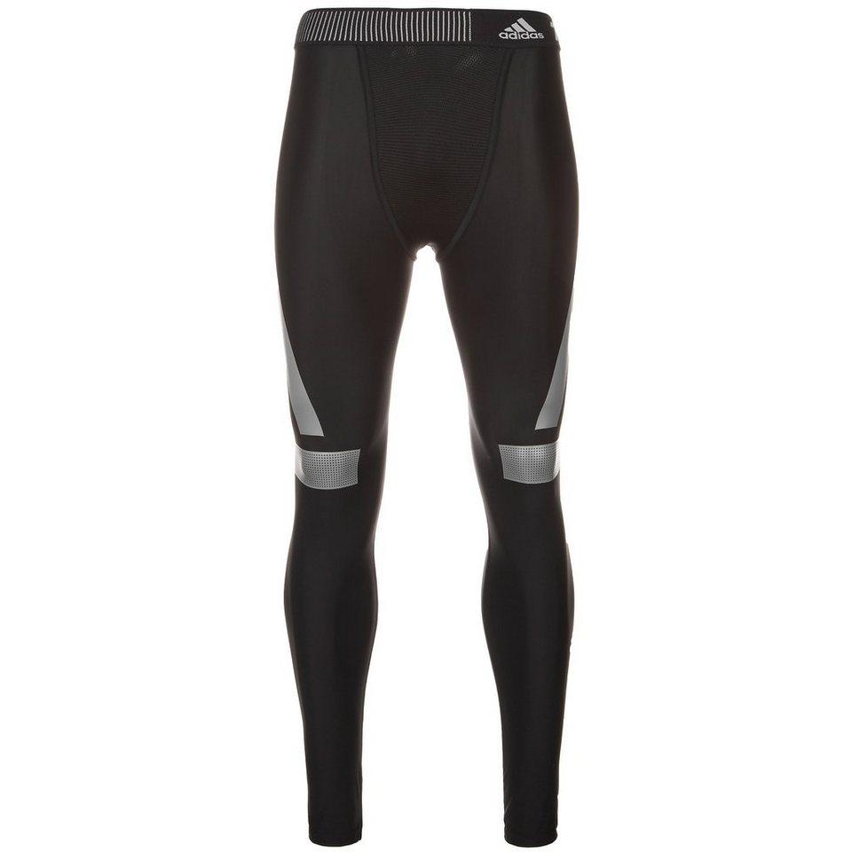 adidas Performance TechFit Power Funktionstight Herren in schwarz / grau