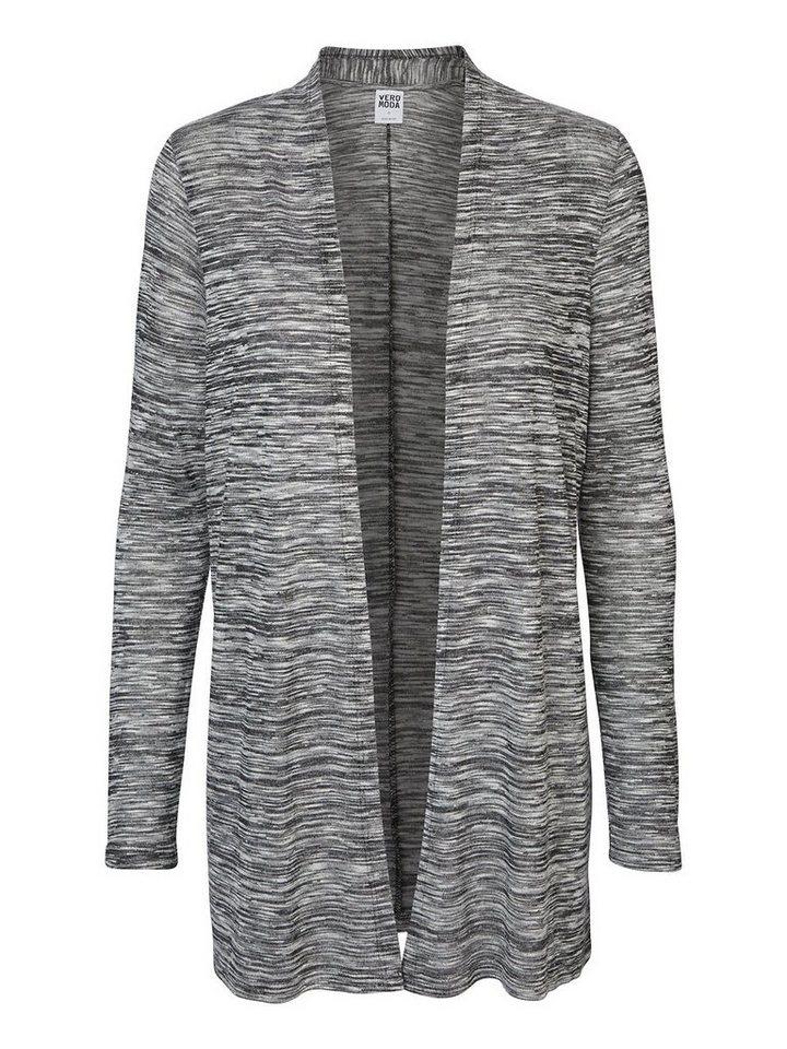 Vero Moda Lange Ärmel Strickjacke in Dark Grey Melange