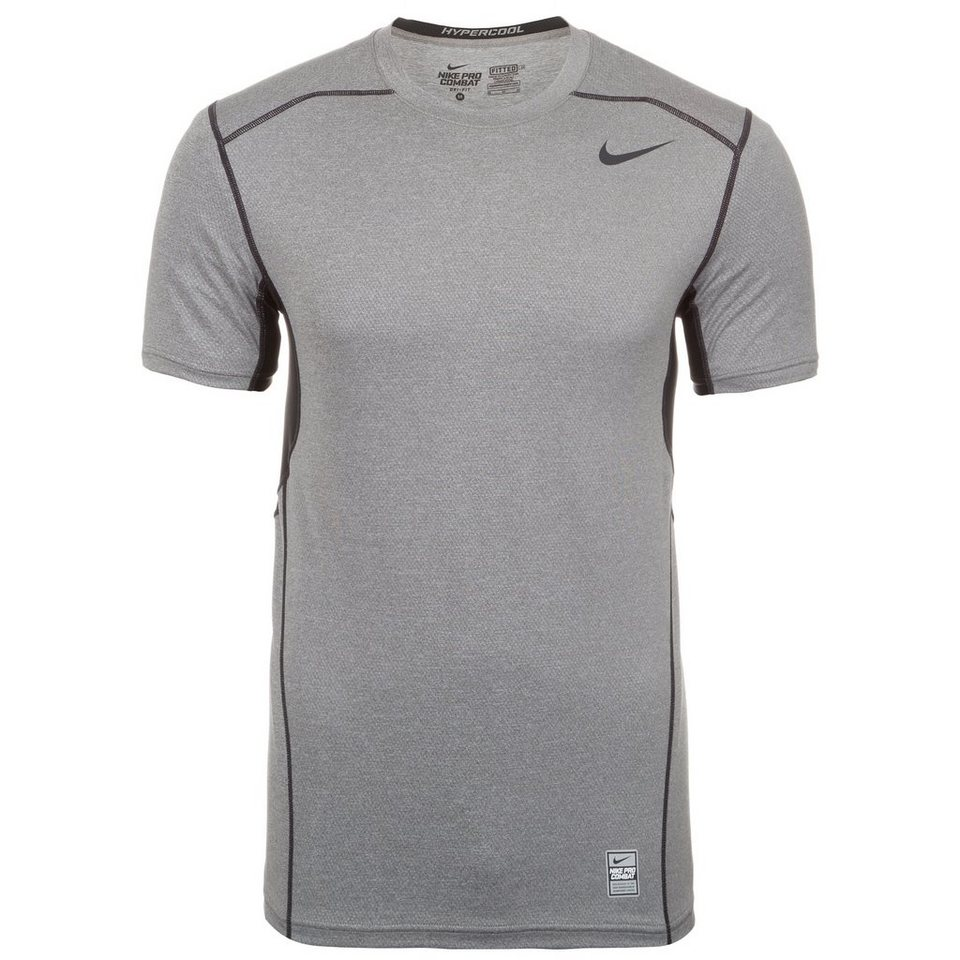 NIKE Pro Hypercool Fitted Funktionsshirt Herren in grau / schwarz