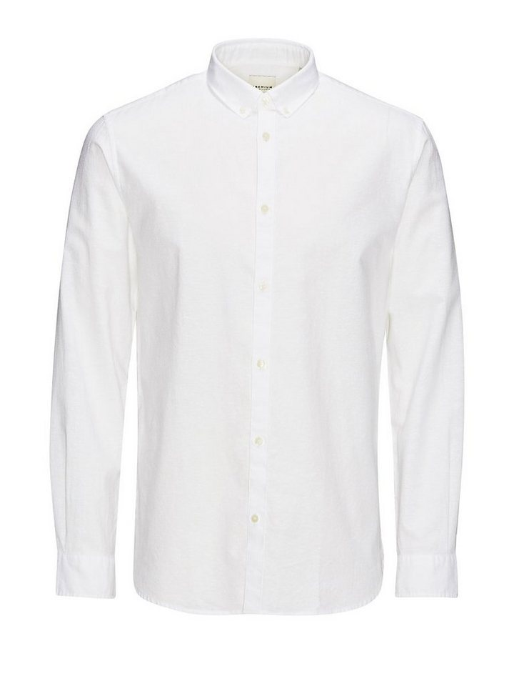 Jack & Jones Lange Passform Freizeithemd in White