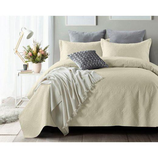 Tagesdecke »Sleeptime Art - Tagesdecke - Twin-Bett - 260x250 + 2 Kissenbezüge 60x70«, Royal Textile, Gut atmungsaktiv, Schön Weich und warm