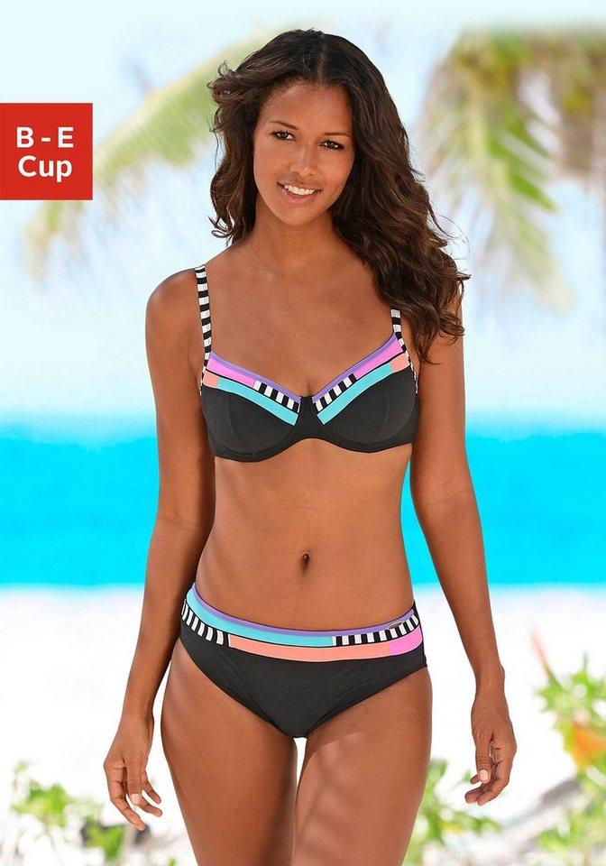 Bügel-Bikini, Sunflair in schwarz-bunt