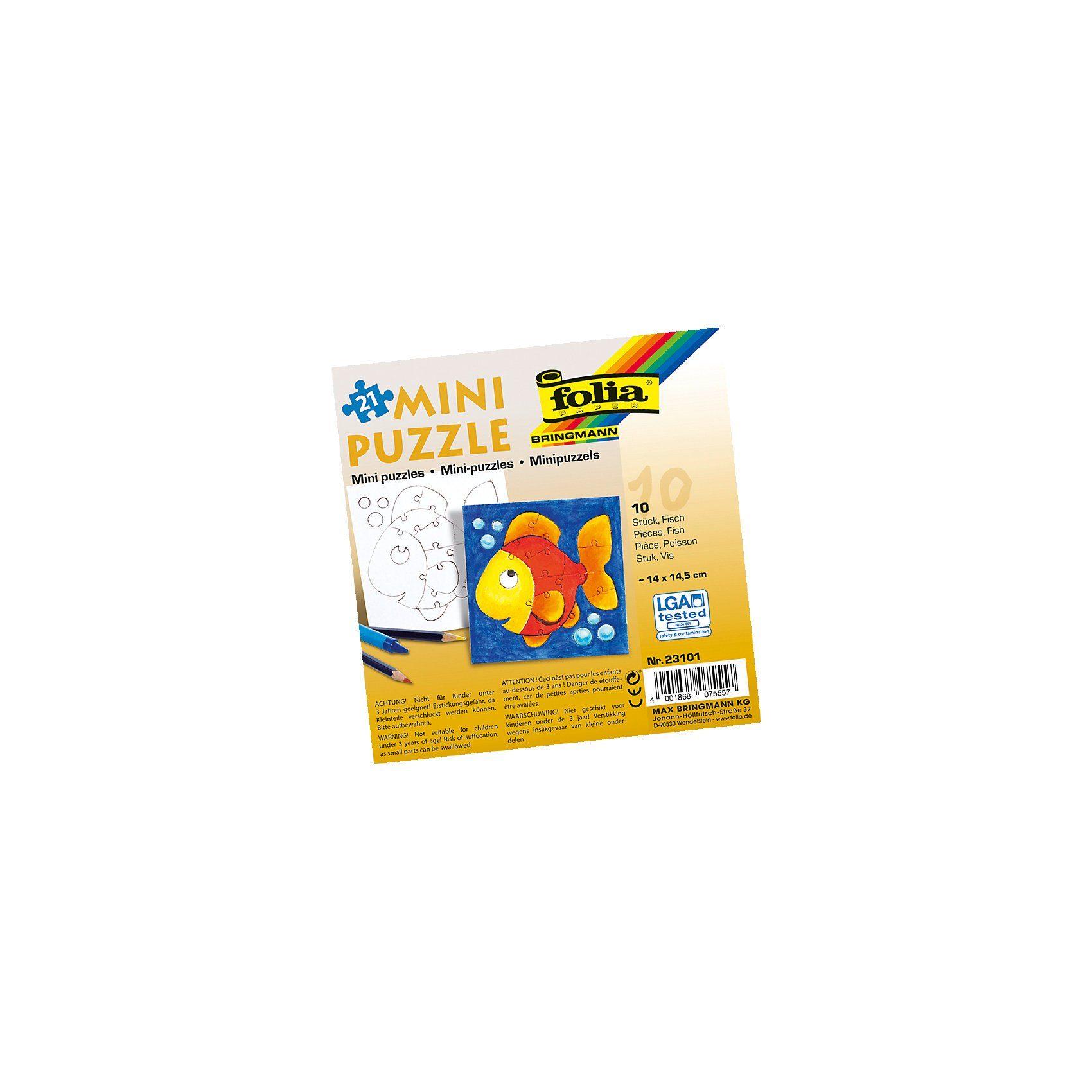 Folia Partypack Motiv-Puzzle Fisch, 10 x 21 Teile