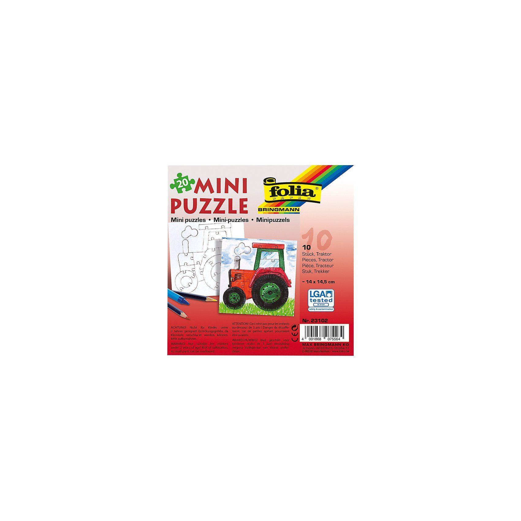 Folia Partypack Motiv-Puzzle Traktor, 10 x 20 Teile