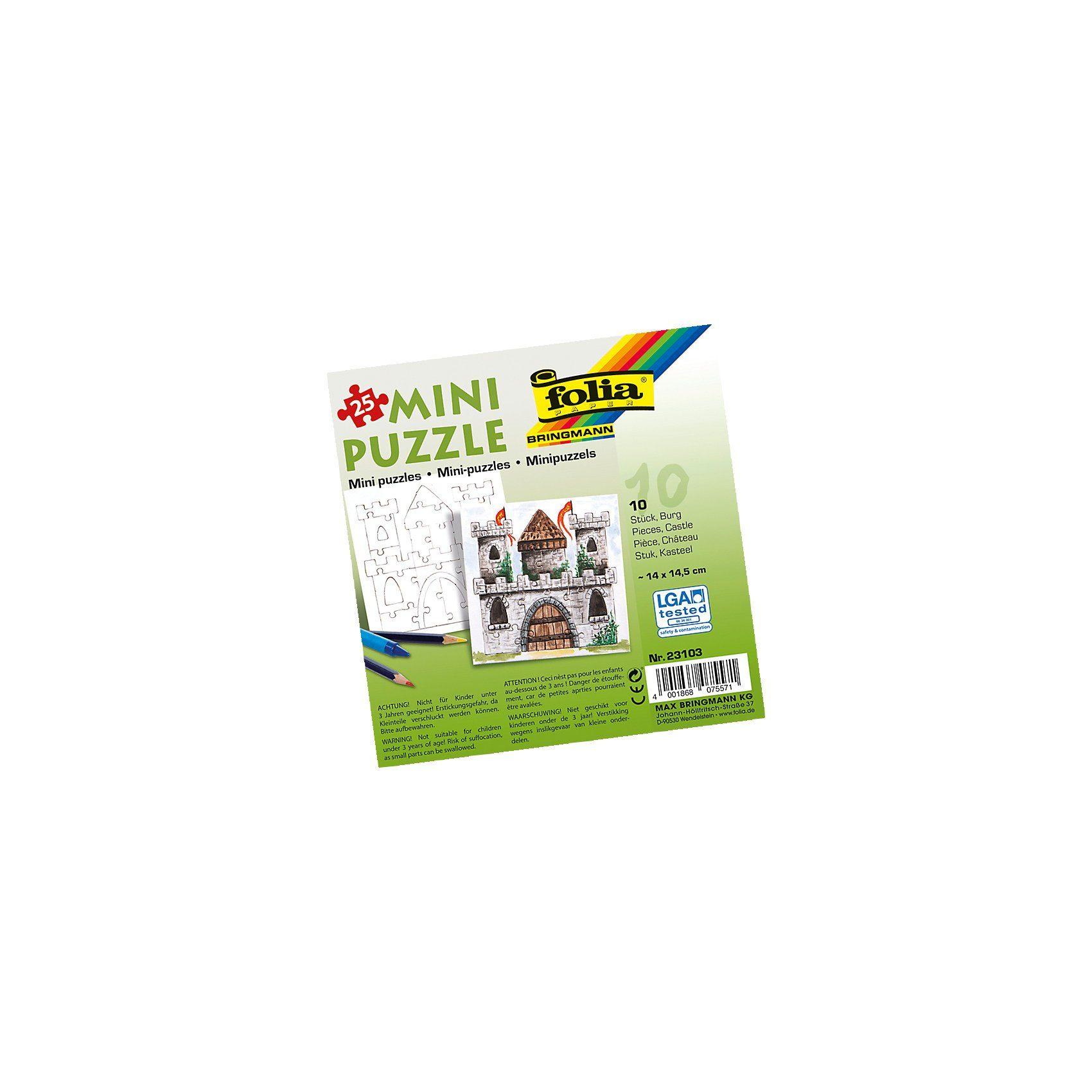Folia Partypack Motiv-Puzzle Burg, 10 x 25 Teile