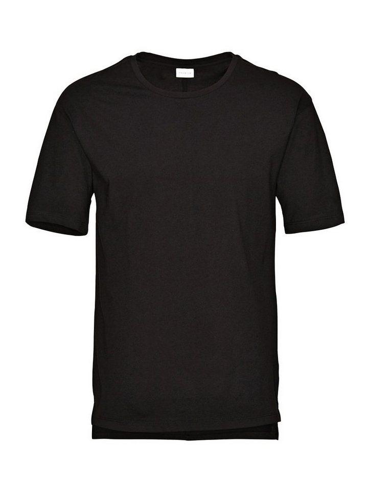 Jack & Jones Einfarbiges, Langes T-Shirt in Black