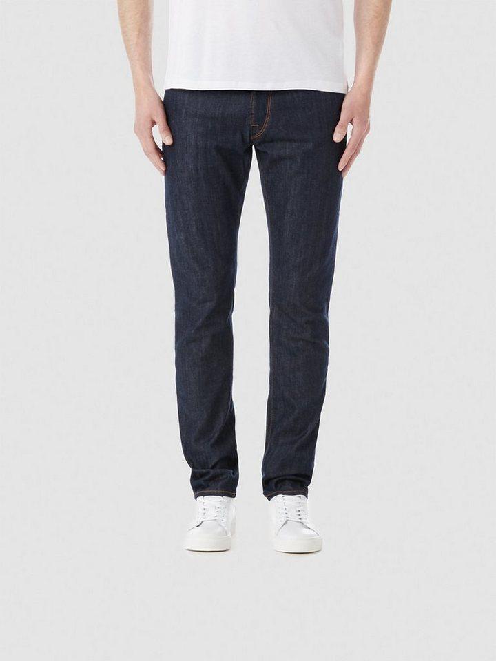 Selected Dunkelblaue Slim Fit Jeans in Dark Blue Denim