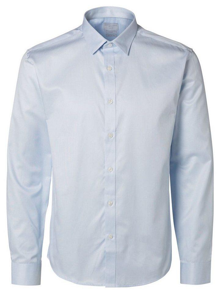 Selected Slim Fit Langarmhemd in Light Blue