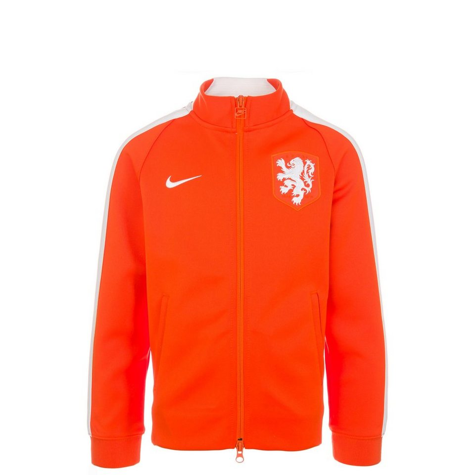 NIKE Niederlande N98 Authentic Trainingsjacke Kinder in orange / weiß