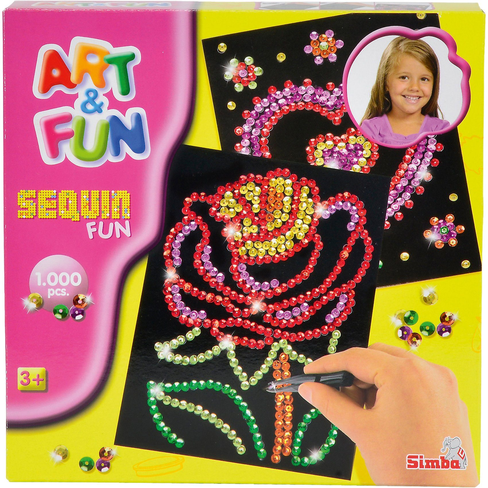 Simba Art & Fun Sequin Fun Blume/Herz