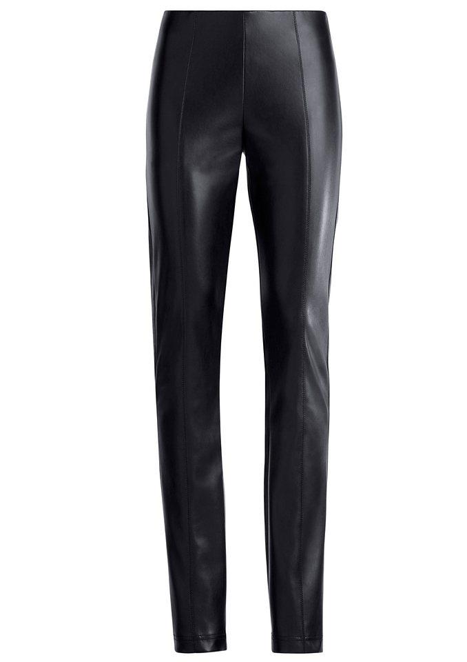 Stehmann Hose mit optisch streckenden Teilungsnähten vorne und hinten in schwarz