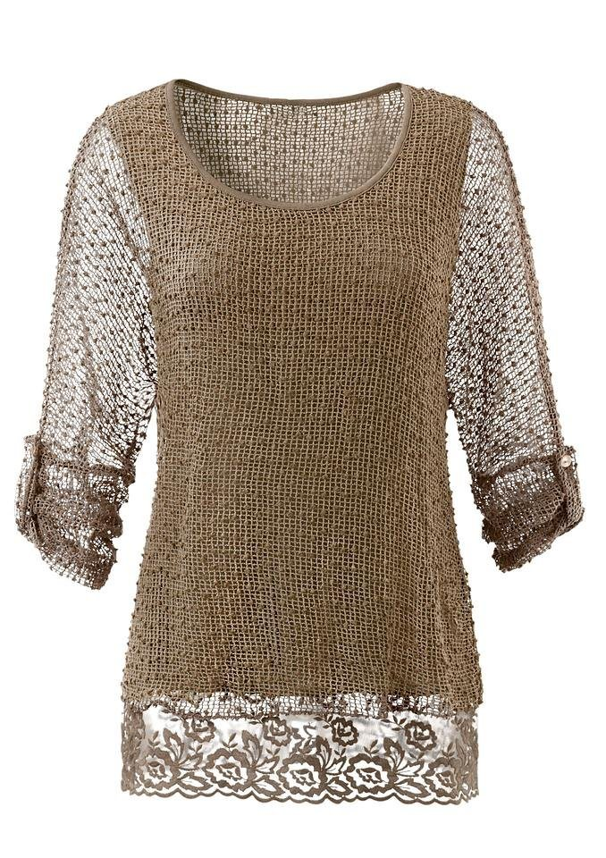Ambria Shirt mit langen Ärmeln in taupe