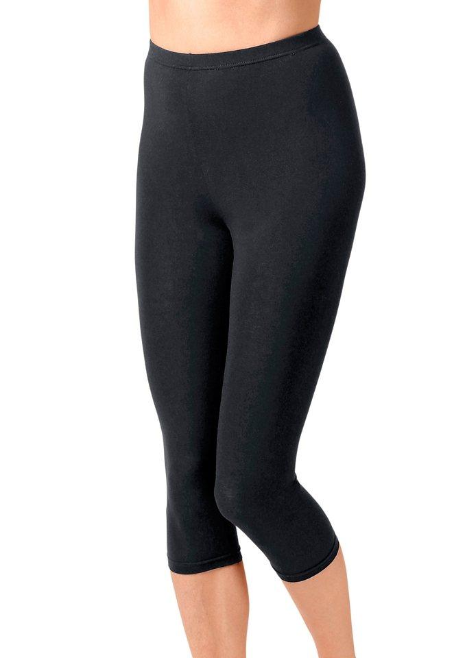 Leggings, Rosalie, 3/4-lang (2 Stck.) in schwarz + jeansblau