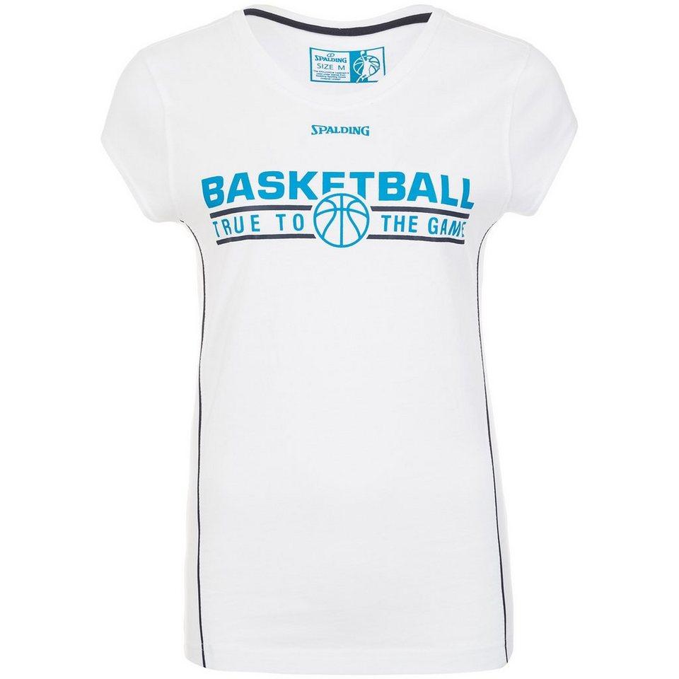 SPALDING TEAM T-Shirt 4her Damen in weiß/marine