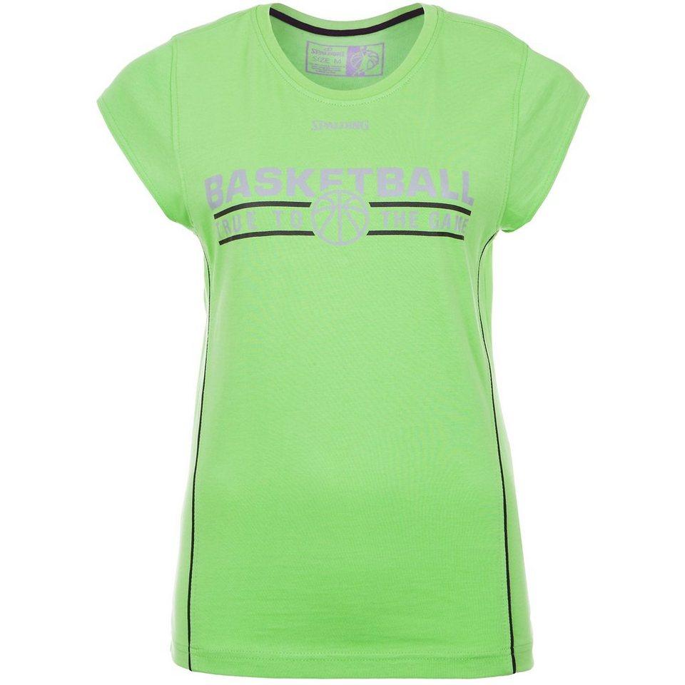 SPALDING TEAM T-Shirt 4her Damen in grün flash/schwarz