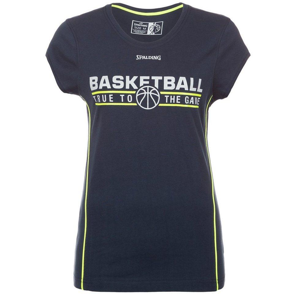 SPALDING TEAM T-Shirt 4her Damen in marine/fluo gelb