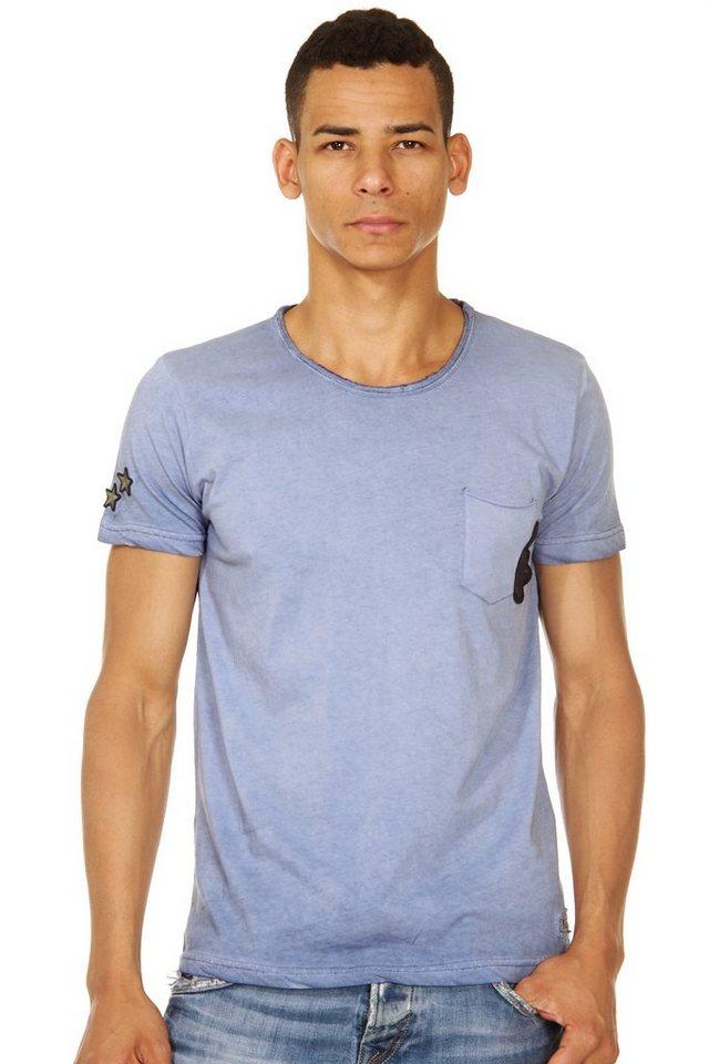 R-NEAL T-Shirt Rundhals slim fit in navy