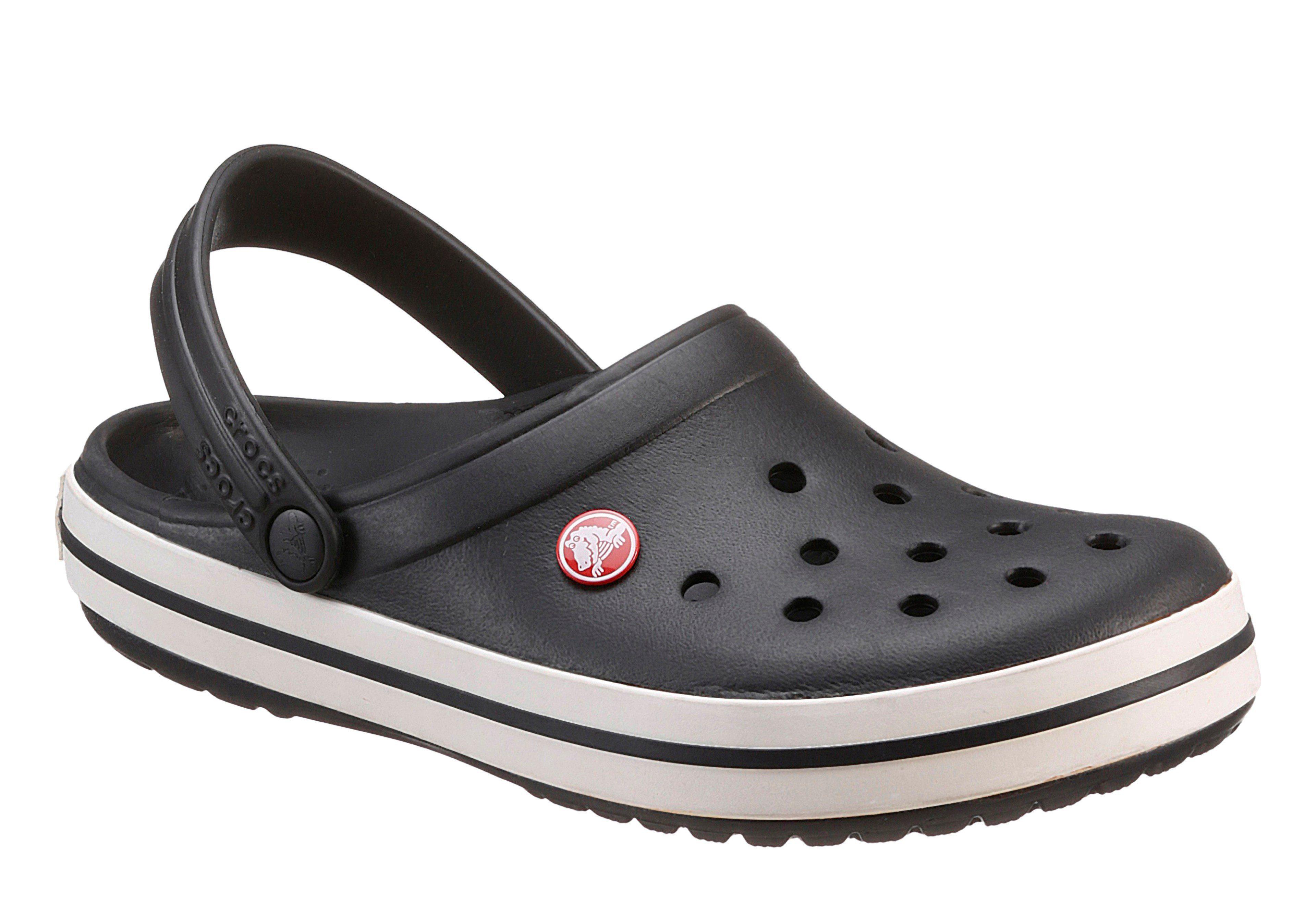 Crocs Crocband Clog, mit farbiger Laufsohle  schwarz