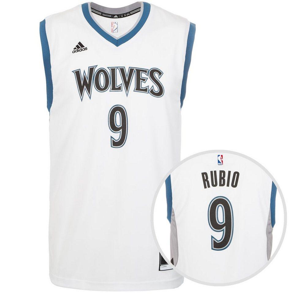 adidas Performance Minnesota Timberwolves Rubio Replica Basketballtrikot Herren in weiß / blau