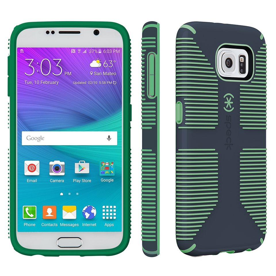 Speck HardCase »CandyShell Grip Charcoal Grey/Dragon Green Samsung« in grün
