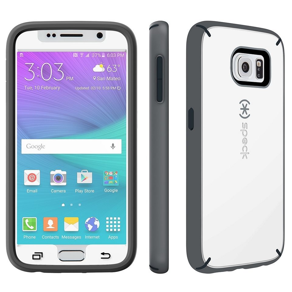 Speck HardCase »MightyShell + Faceplate Samsung Galaxy S6 White/Ch« in weiss