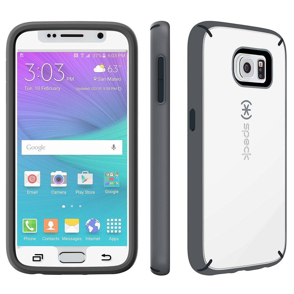 Speck HardCase »MightyShell + Faceplate Samsung Galaxy S6 White/Ch«