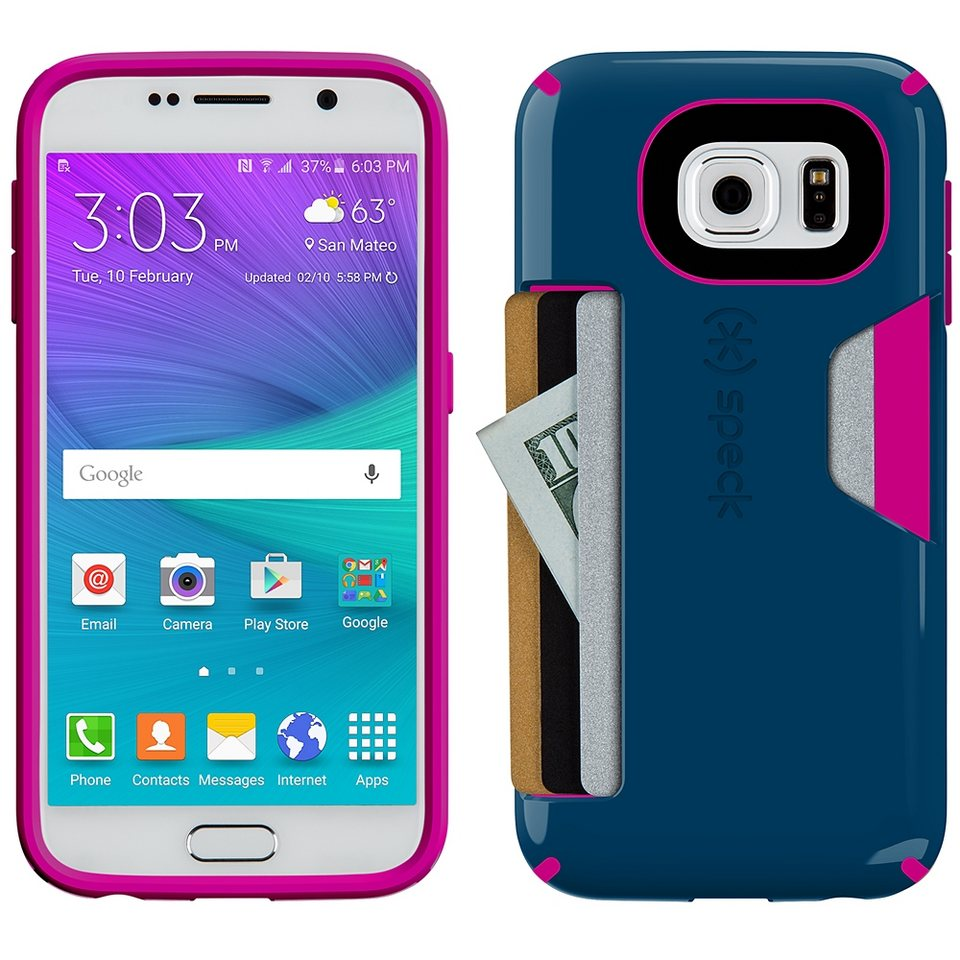 Speck HardCase »CandyShell Card Samsung Galaxy S6 Deep Sea Blue/Li« in blau