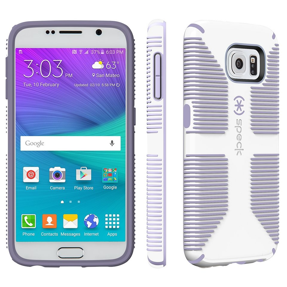 Speck HardCase »CandyShell Grip Samsung Galaxy S6 White/Heather Pu« in weiss