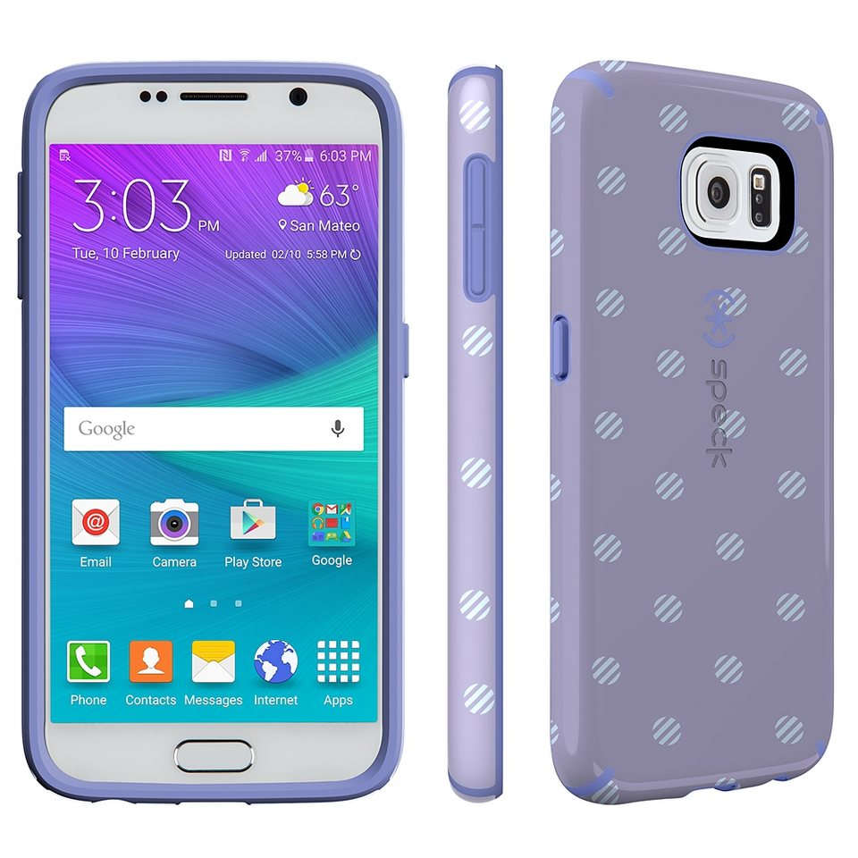 Speck HardCase »CandyShell Inked Samsung Galaxy S6 Stripe Polka He« in mehrfarbig