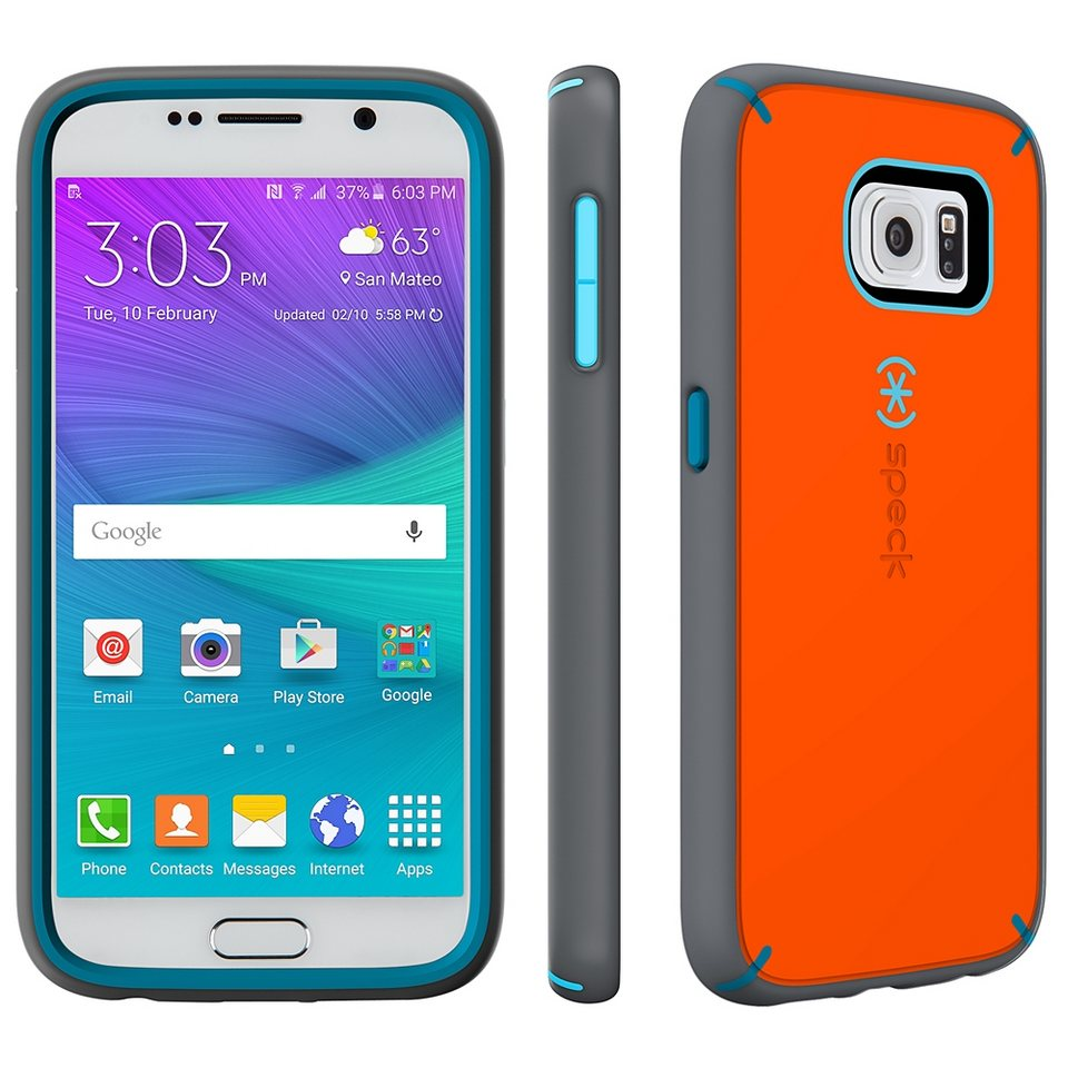 Speck HardCase »MightyShell Samsung Galaxy S6 Carrot Orange/Speck « in mehrfarbig