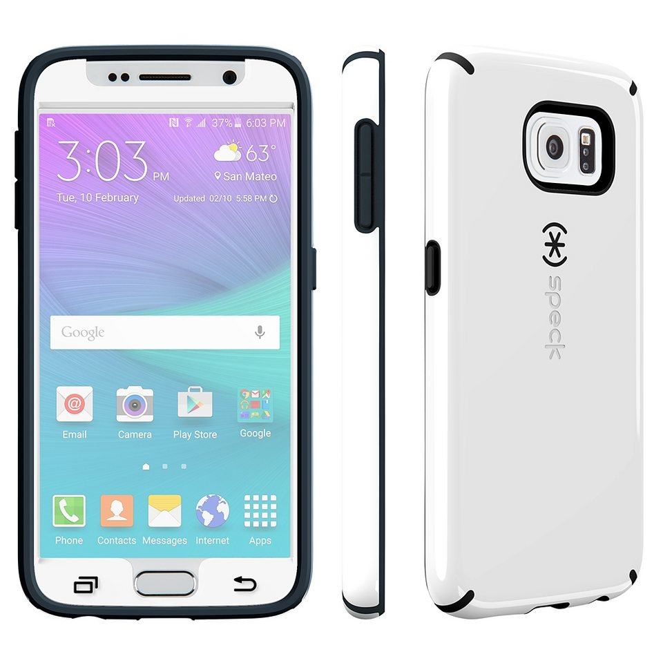 Speck HardCase »CandyShell Faceplate Samsung Galaxy S6 White/Charc« in weiss