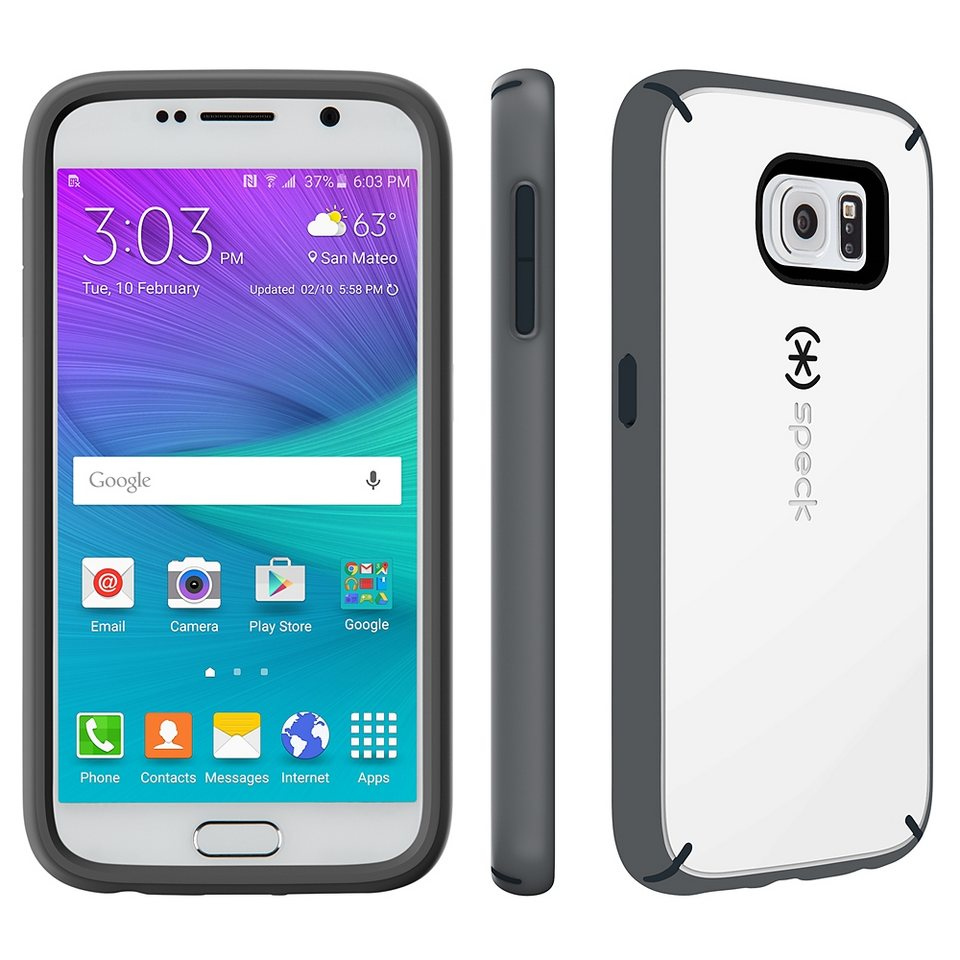 Speck HardCase »MightyShell Samsung Galaxy S6 White/Charcoal Grey/« in weiss