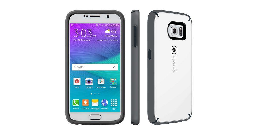 Speck HardCase »MightyShell White/Charcoal Grey/Slate Grey Samsung«