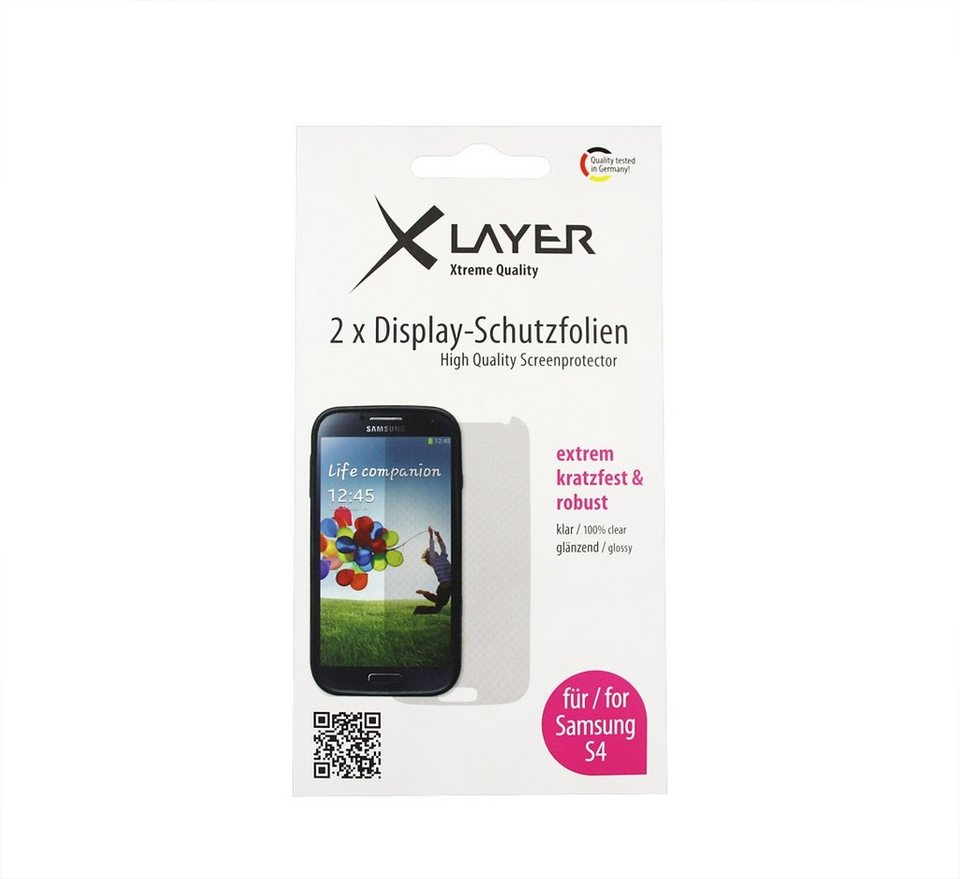 XLayer Schutzfolie »100% clear 2x Samsung Galaxy S4« in transparent