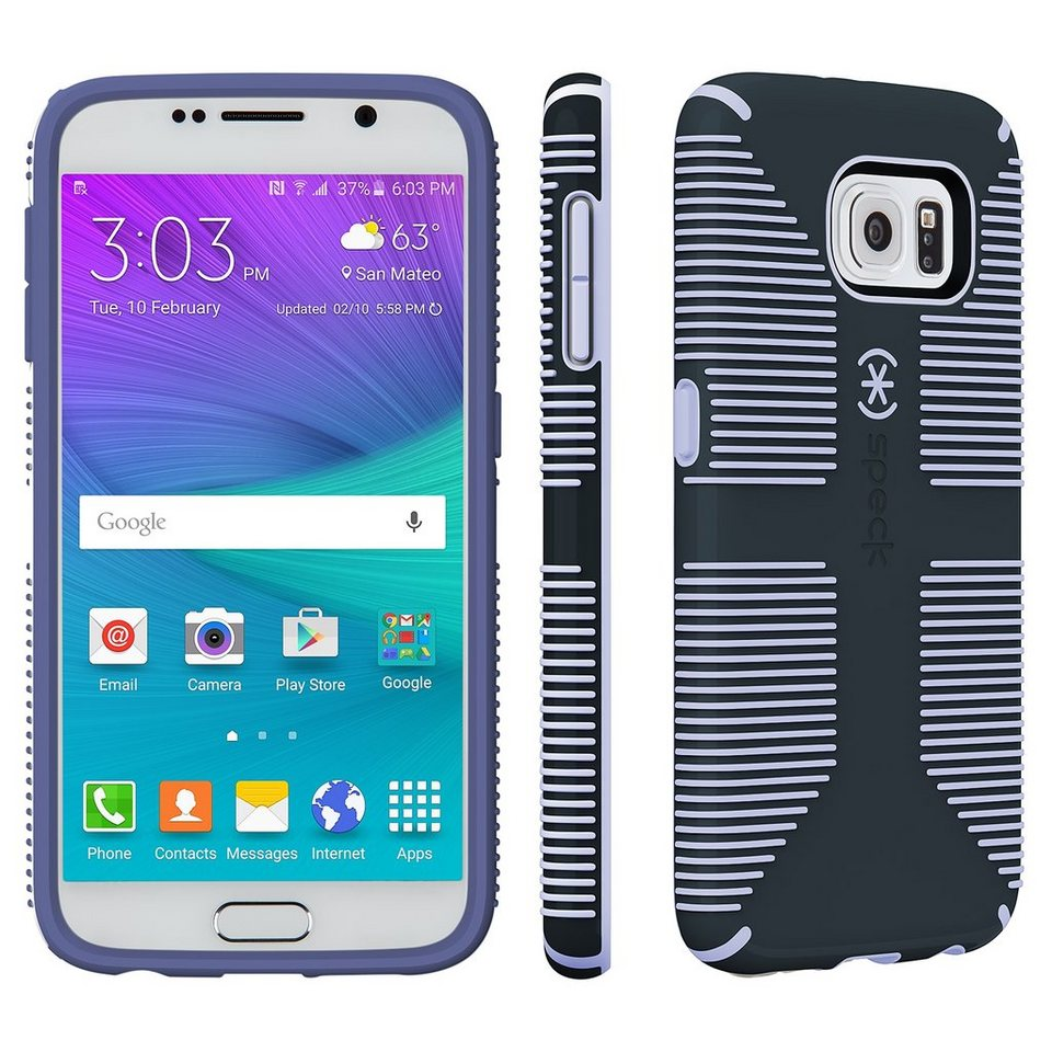 Speck HardCase »CandyShell Grip Samsung Galaxy S6 Charcoal Grey/Wi« in lila