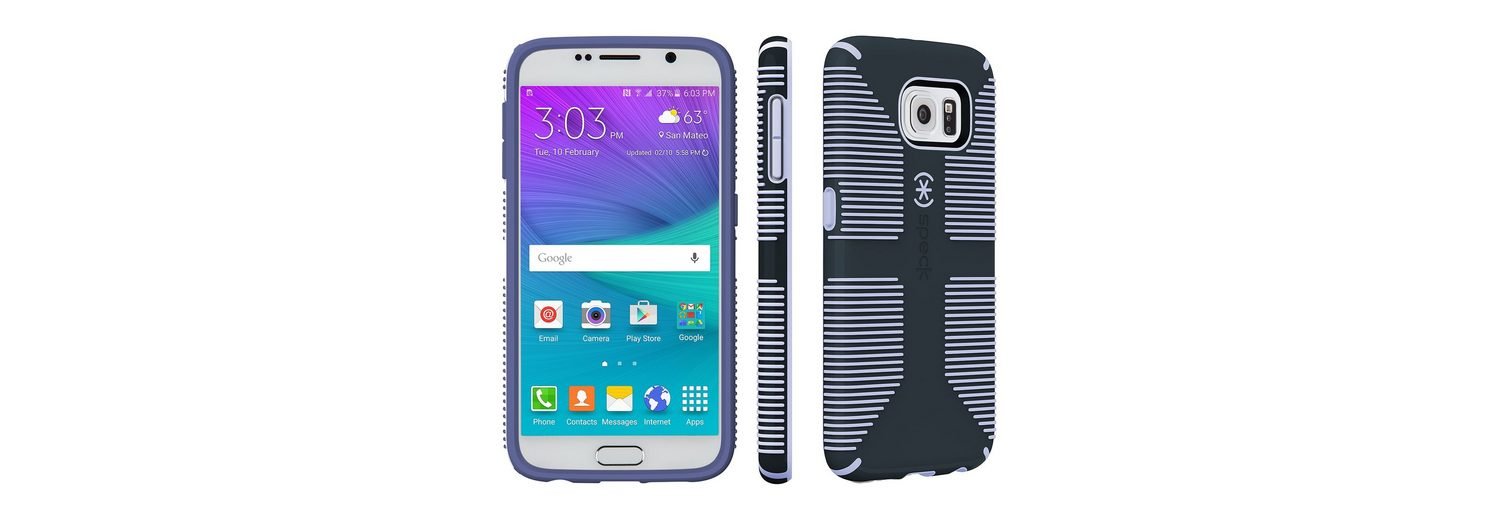 Speck HardCase »CandyShell Grip Samsung Galaxy S6 Charcoal Grey/Wi«