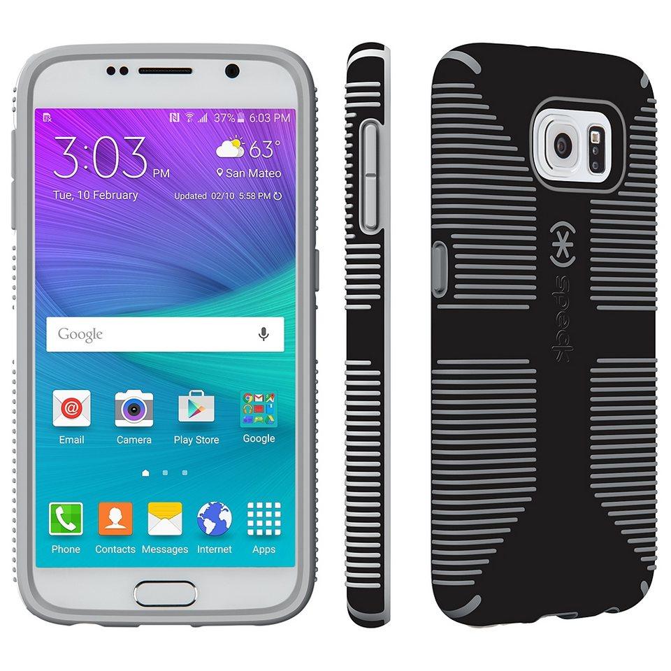Speck HardCase »CandyShell Grip Samsung Galaxy S6 Black/Slate Grey« in schwarz