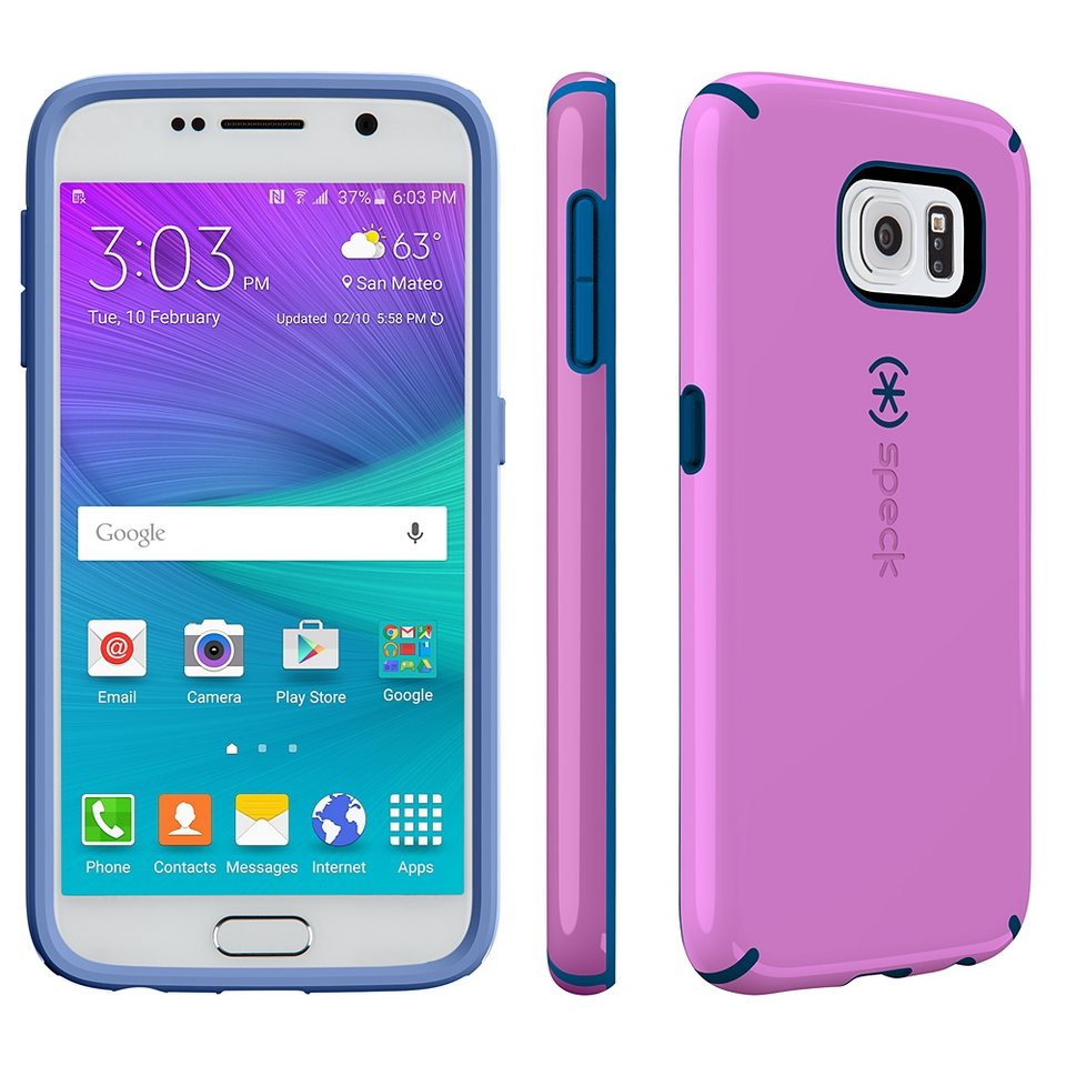 Speck HardCase »CandyShell Samsung Galaxy S6 Beaming Orchid Purple« in blau