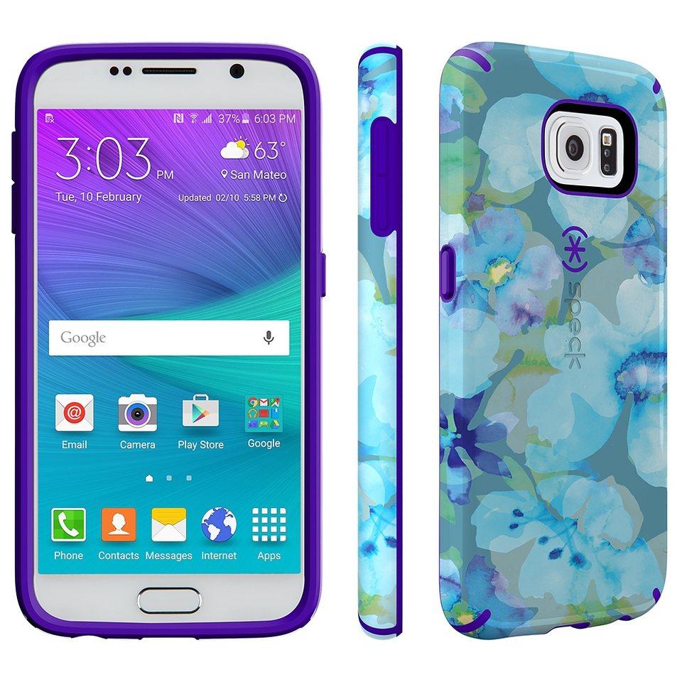 Speck HardCase »CandyShell Inked Samsung Galaxy S6 Aqua Floral Blu« in mehrfarbig