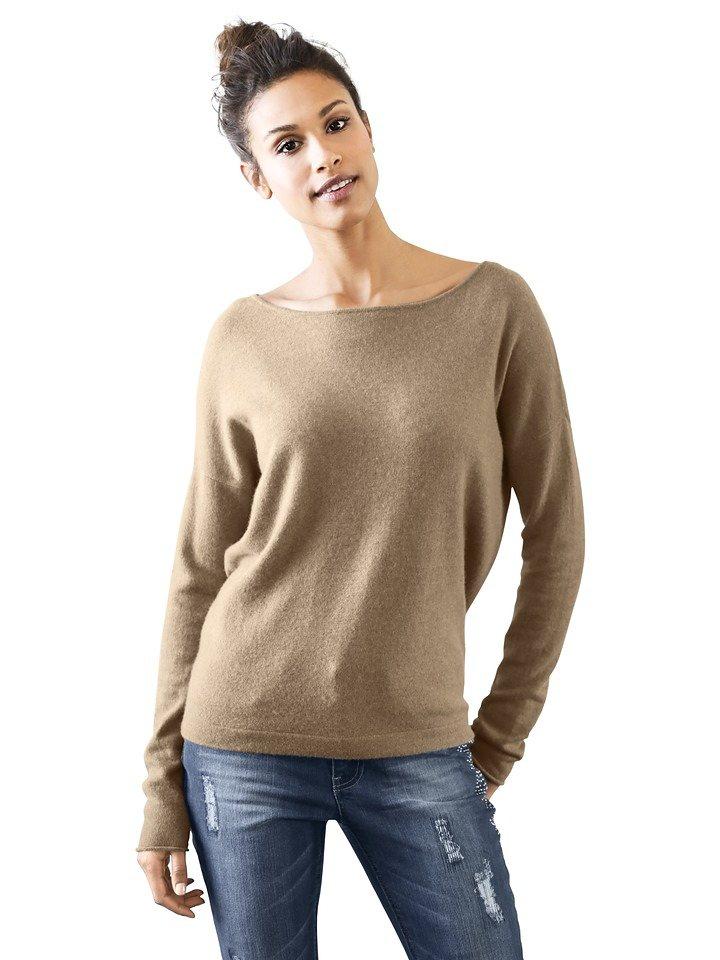 Oversized-Pullover in camel