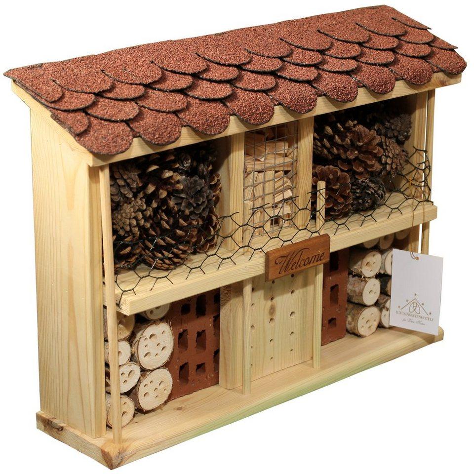 Insektenhotel »Landhaus Komfort - Bausatz« in natur