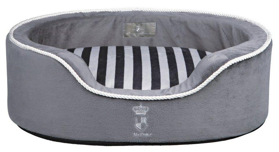 Hundebett und Katzenbett »My Prince« in grau/weiß
