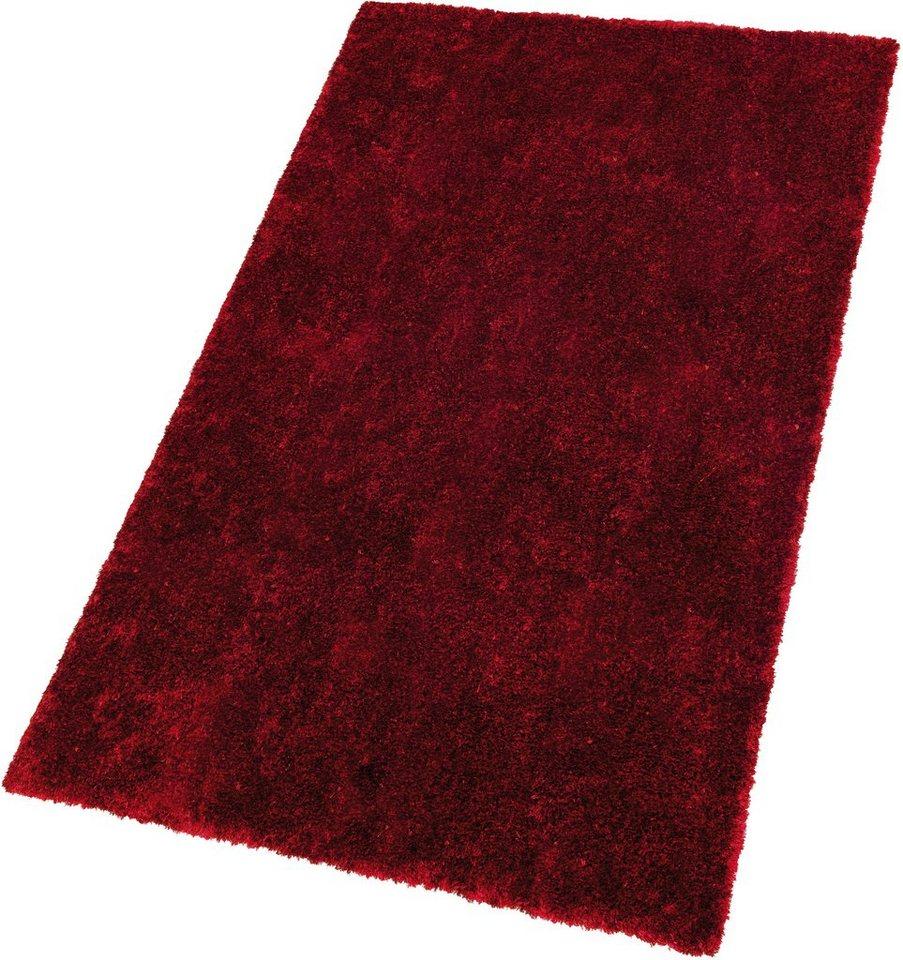 Hochflor-Teppich, Schöner Wohnen, »Emotion«, Höhe 27 mm, handgetuftet in rot