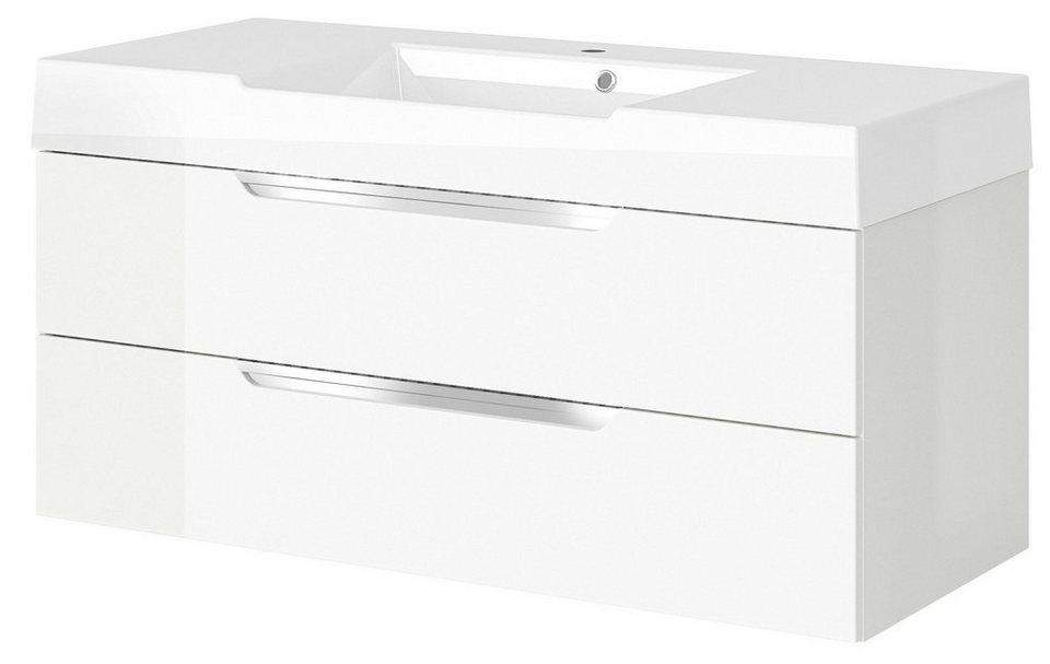 Waschtisch »Solitaire 7020«, Breite 120 cm in weiß